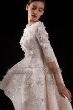rochie de mireasa asimetrica 1582b