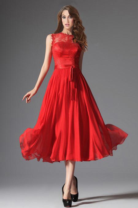 b04145402f rochie cocktail midi rosie voal dantela rochie de soacra