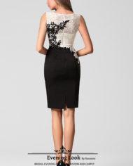26160807e mod cocktail dress black white 1a