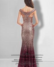 rochie de seara paiete visiniu argintiu ep08999 b back