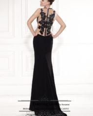 rochie de seara neagra sposa 29112017 crep broderie pe spate evening2