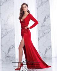 sposa-dell-amore-rochie-de-seara-eleganta-catifea-rosie-12122018-evening-look-evening-dress-velvet-2018-red-1