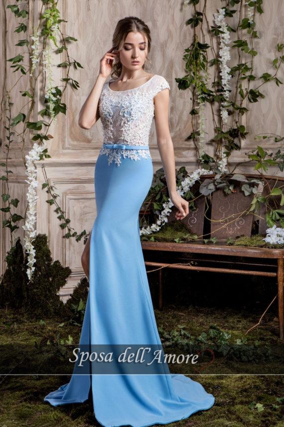 rochie de seara MAMA MIRESEI BLEO 2018 crepe broderie rochie de bal rochie de banchet dantela broderie ivory ed-020 L