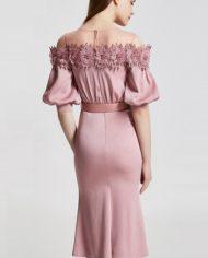 rochie de seara mov roz rochie cocktail cnf31812 retro mama miresei 3