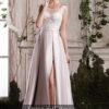 rochie de seara nude crem ivory rochie de bal rochie de banchet rochie de cununie civila sposa dell amore 2018 ed019