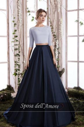 rochie de seara tafta albastra printesa rochie de bal sposa dell amore ed 14 2018 colectie b