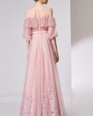 rochie de seara volan tull dantela romantica rochie d ebal roz deschis bucurest 32055 2