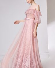rochie de seara volan tull dantela romantica rochie d ebal roz deschis bucurest 32055 3