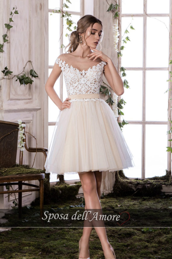 rochie cununie civila ivory nude dantela rochie cocktail rochie de bal sposa dell amore ed26 2018 colectie 1