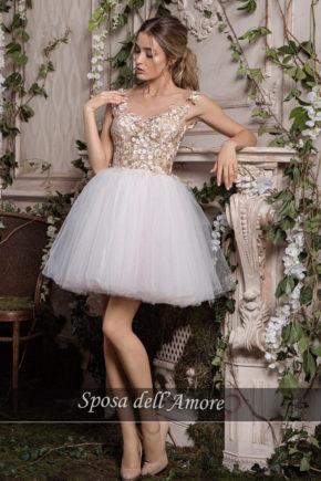 rochie cununie civila ivory nude dantela rochie cocktail rochie de bal sposa dell amore ed28 2018 colectie 1