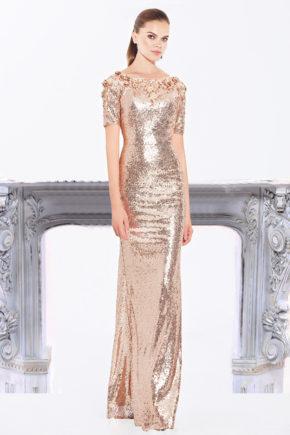 rochie de seara cnf31391 rochie de soacra mama miresei rochie de nasa paiete 1