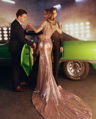 rochie de seara eleganta din paiete roz sposa doua piese rochied e bal rochie de banchet sposa dell amore v18 10 2