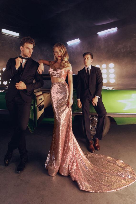 rochie de seara eleganta din paiete roz sposa doua piese rochied e bal rochie de banchet sposa dell amore v18 10