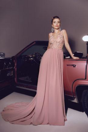 rochie roz de seara rochie de bal rochie eleganta v18 06 sposa dell amore