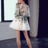 rochie cocktail rochie cununie civila ivory flori ed 18 09 sposa 2018
