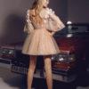 rochie cocktail rochie cununie civila pretioasa dantela 3D v18-14 sposa dell amore 2018 3