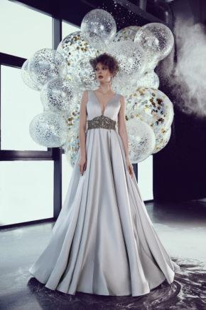 rochie de bal argintie tafta ed 18 11 rochie de nunta sposa dell amore