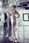 rochie de seara roz din paiete argintie rochie de bal rochie de nunta rochie evenimente ed18 03