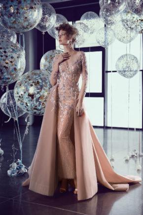 rochie eleganta rochie red carpet rochie de nunta trena detasabila rochie se seara 2018 ed18 19 sposa