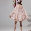 rochie cocktail rochie cununie civila sposa dell amore amarate crem nude flori 3D 2