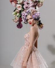 rochie cocktail rochie cununie civila sposa dell amore amarate crem nude flori 3Dk