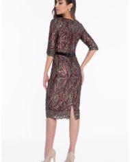 1821c7012_wine_black_front rochie cocktail cristale margele haute couture rochie soacra scurta 2