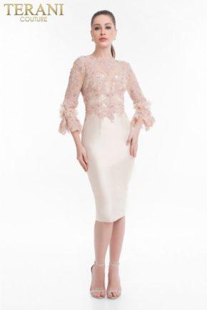 1821c7016_front rochie cocktail roz deschis mama miresei rochie scurta soacra rochie terani couture