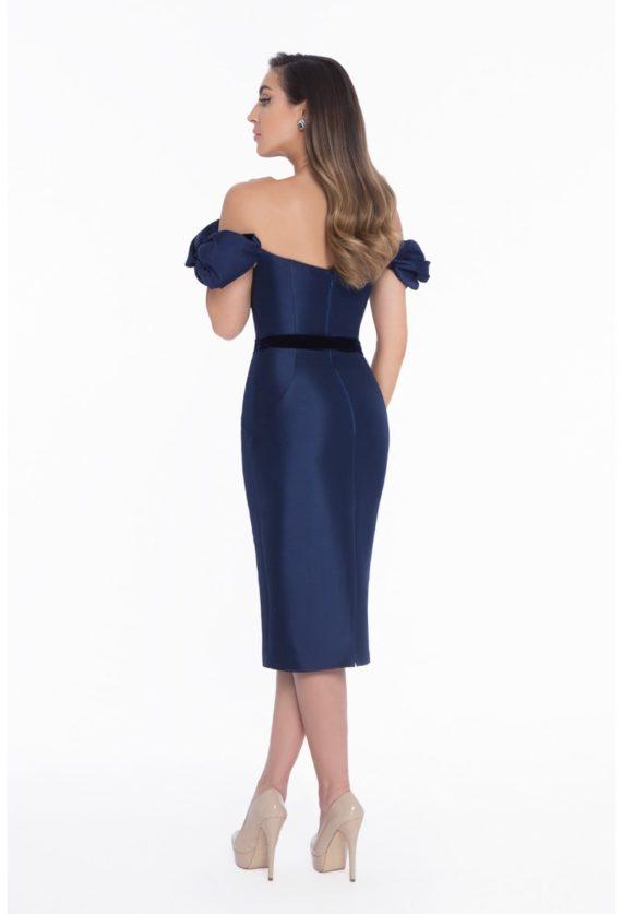 1821c7941_navy_front rochie scurta genunchi tafta rochie de ocazie mama miresei rochie soacra rochie eleganta cocktail 2