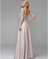 rochie bal rochia banchet roz deschis rochie satin rochie printesa cristale top 1527682612646 2