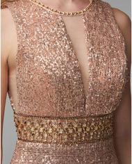 rochie de bal rochie banchet aurie paiete cristale rochie de ocazie speciala rochie de seara rochie glamour 1527682696378 11