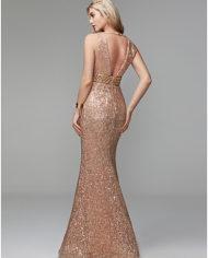 rochie de bal rochie banchet aurie paiete cristale rochie de ocazie speciala rochie de seara rochie glamour 1527682696378 5