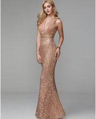 rochie de bal rochie banchet aurie paiete cristale rochie de ocazie speciala rochie de seara rochie glamour 1527682696378 6