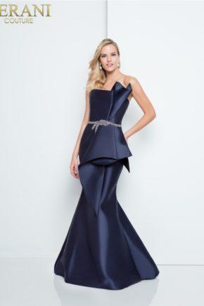 rochie de ocazie terani couture tafta beomarin rochie mama miresei rochie de soacra rochie de nasa 1811e6116_navy_back 2