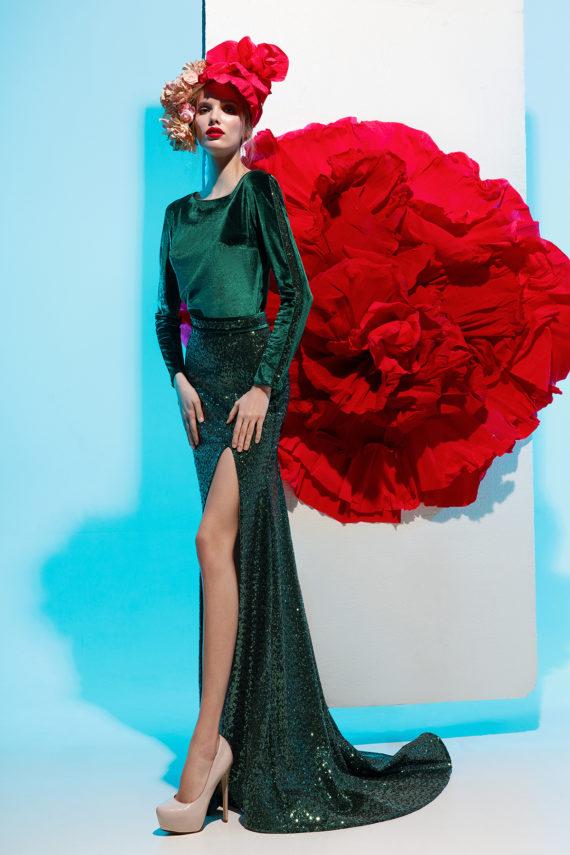 rochie de seara catifea paiete verde glycinia sposa 2018 rochie eleganta rochie de soacra