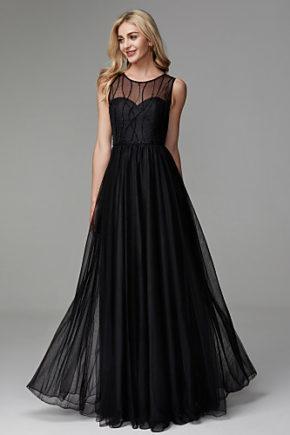 rochie de seara eleganta rochie neagra tul rochie de bal 1527683198169