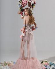 rochie de seara rochie cununie civila margarita rochie roz 5