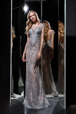 rochie eleganta rochie de seara rochie soacra mama mireseu argintie gri lubelia 2018
