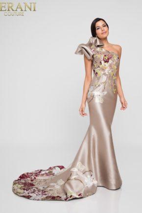 rochie mama miresei rochie de soacra rochie nude rochie crem rochie pe un umar exclusivista 1811e6123_champagne_multi_front