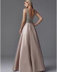 rochie bal roz prafuit, rochie banchet, rochie cununie civila, rochie mama miresei, rochie nasa, rochie de seara eleganta 06664505 6
