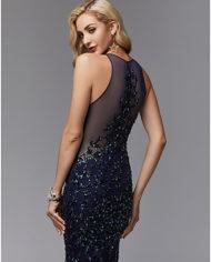 rochie de seara eleganta bleomarin tul paiete sposa dell amore evening look 06717266 6