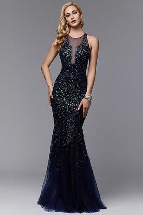rochie de seara eleganta bleomarin tul paiete sposa dell amore evening look 06717266 9