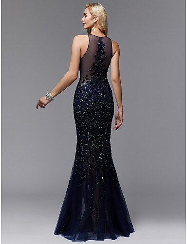 rochie de seara eleganta bleomarin tul paiete sposa dell amore evening look 06717266