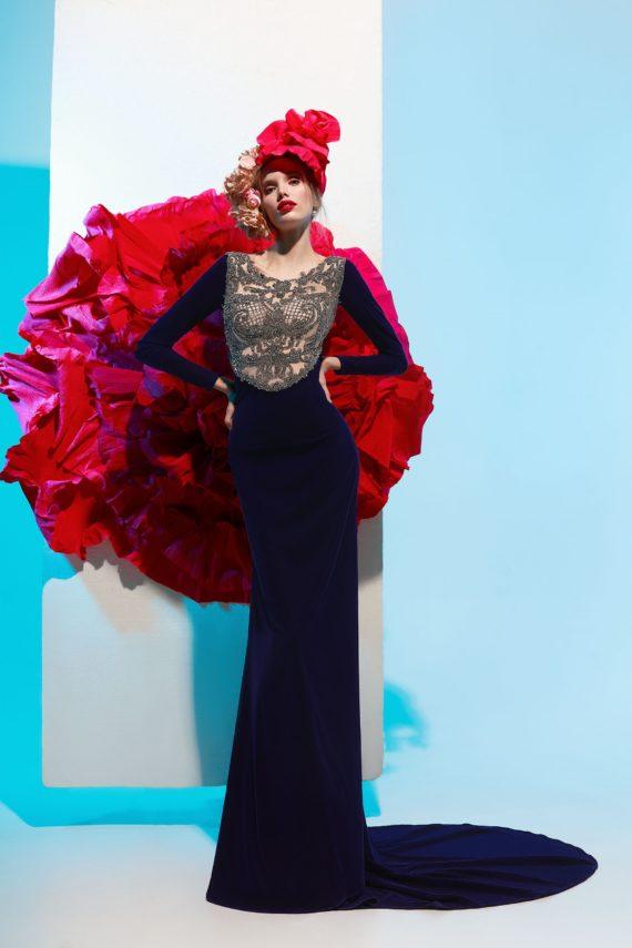 rochie eleganta de seara rochie de lux rochie de bal rochie din catifea rochie glamour petunia1A