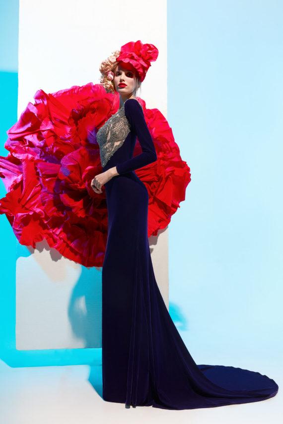 rochie eleganta de seara rochie de lux rochie de bal rochie din catifea rochie glamour petunia3
