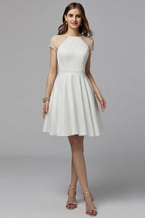 06664284 rochie cununie civila rochie mireasa scurta alba 2