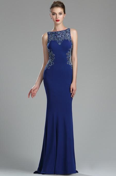 36174705a rochie eleganta de lux aplicatii elastica spate decolatat rochie de seara