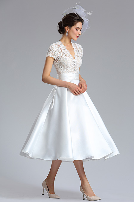 d04181007d rochie de mireasa midi tafta rochie cununie civila ivory