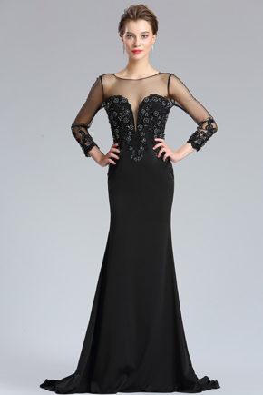 d26181900a rochie mama miresei rochie soacra neagra cu maneci rochie eleganta de seara