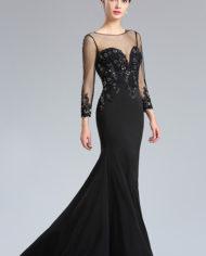 d26181900a rochie mama miresei rochie soacra neagra cu maneci rochie eleganta de seara k