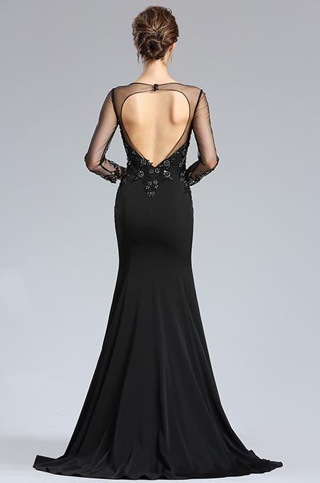 d26181900a rochie mama miresei rochie soacra neagra cu maneci rochie eleganta de seara p